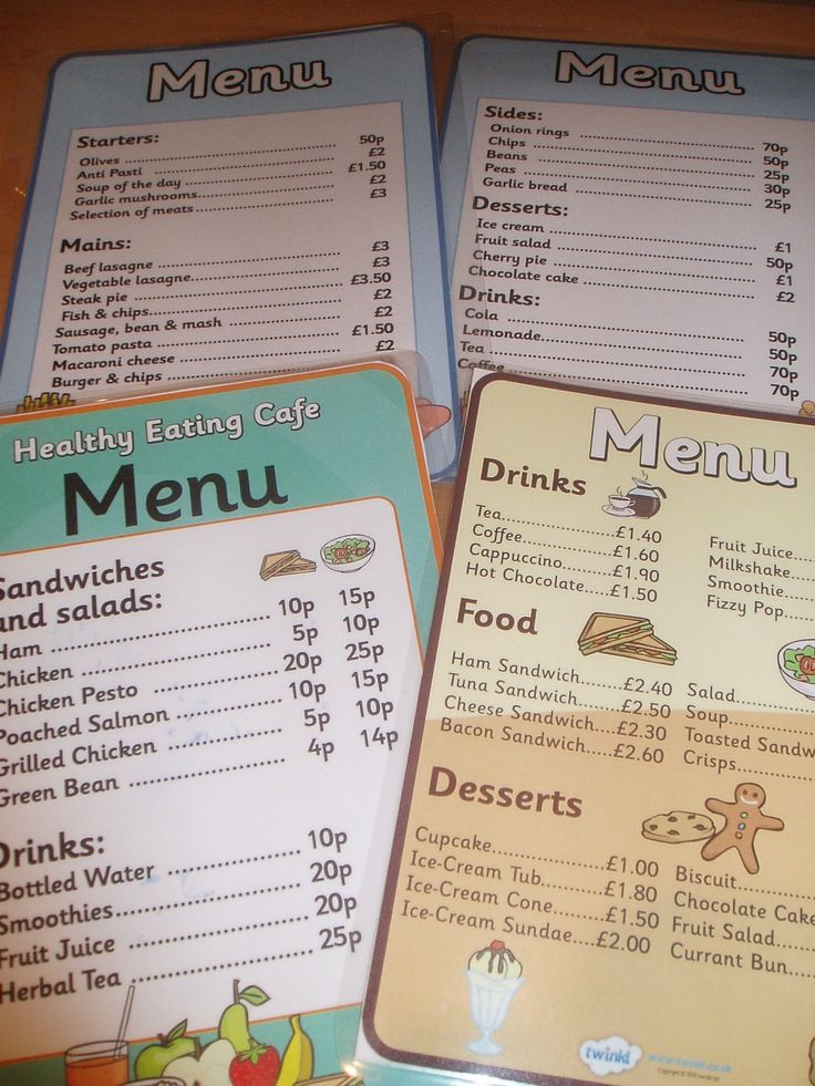 Cafe role play resources - Twinkl