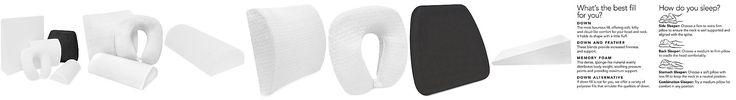 SensorGeL Luxury Pressure Relieving Gel Infused Memory Foam Specialty Pillows