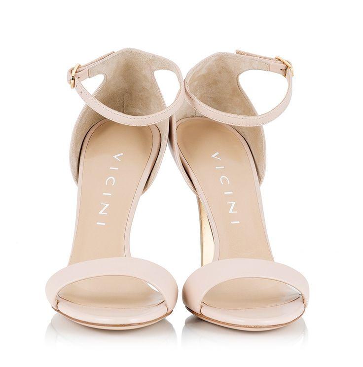 Vicini Nude leather gold-tone ombre stiletto heel sandals  #ViciniShoes #GiuseppeZanotti #Sandals