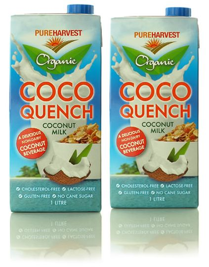 combining coconut milk with rice milk, fructose free recipes