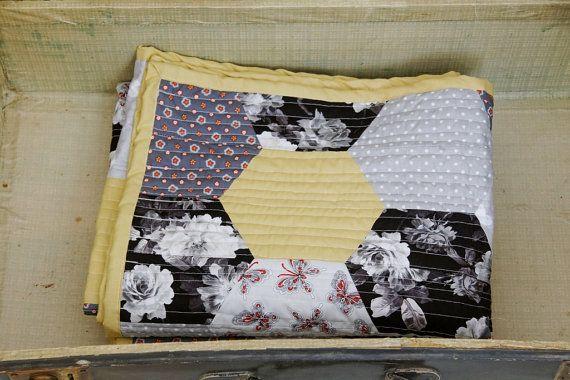 Baby Quilt Handmade by zakkStudio quilt in