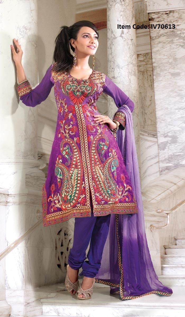 Luscious Deep Purple Salwar Kameez @US$ 112.38