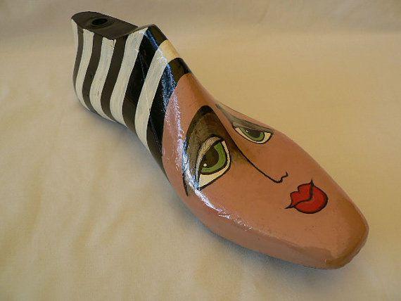 Vintage painted shoe last