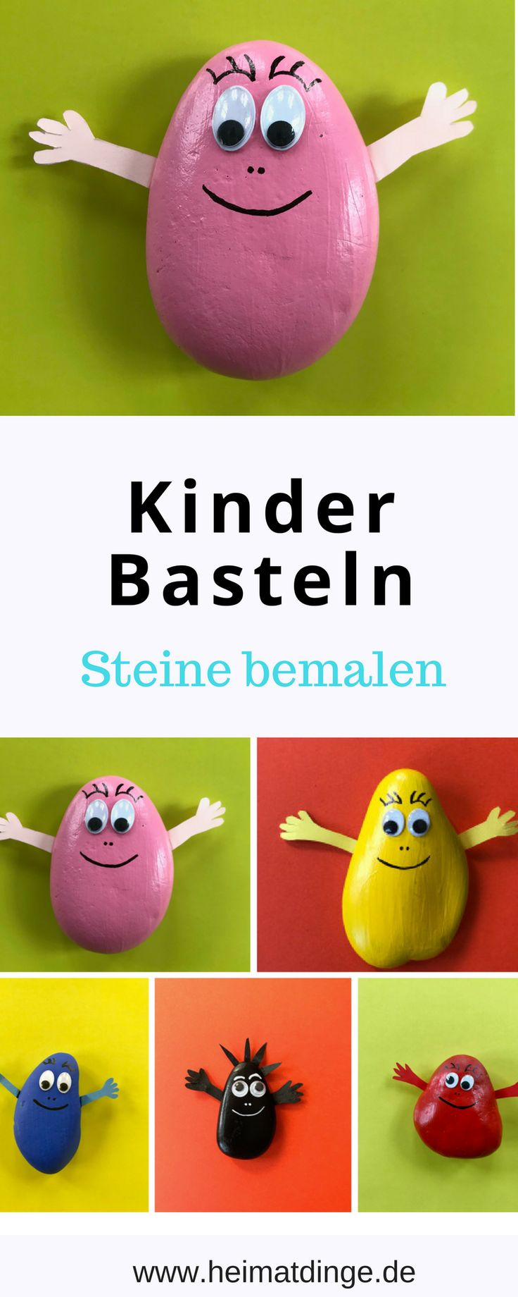 Steine bemalen mit Kindern – viele bezaubernde Motive –  – heimatdinge – Bastel- und Upcycling Ideen für Kinder & Familien