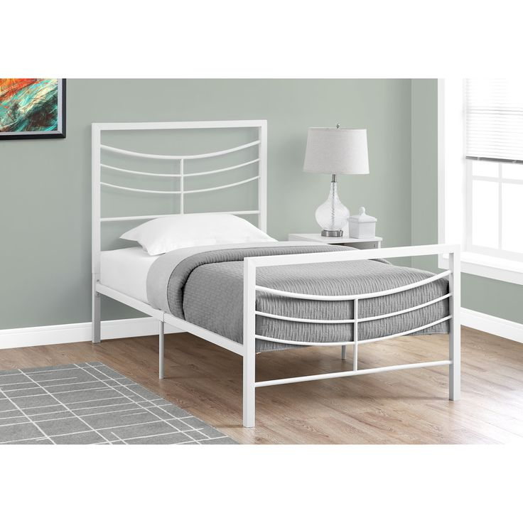 Monarch White Metal Twin-size Bed (Twin White Metal BED)
