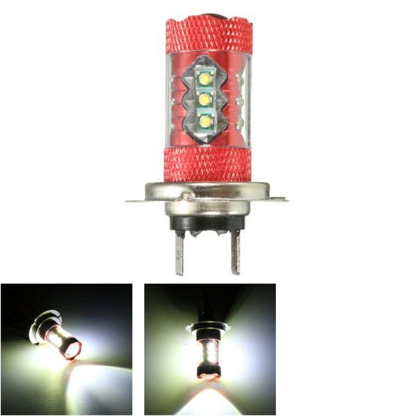 12V Pair Motorcycle LED Fog Light Lamp Bulb White H11 H10 H7 H8 H4 9005 9006 P13W H16 H13