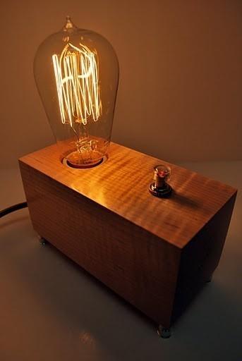 wood, light, lighting stuff.  wha-la.