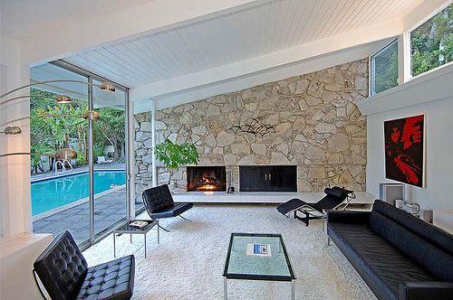 Modern Charlotte Mid Century Modern Fireplace Mid