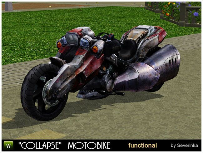 Collapse Motobike Functional By Severinka Free Sims 3 Cars