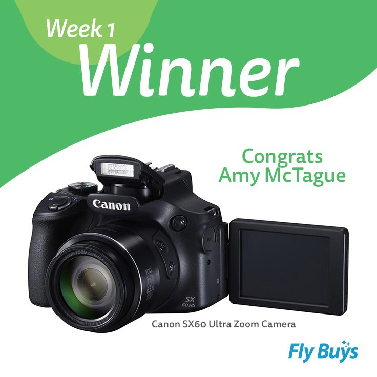 Congrats to Amy McTague, who is our Design Your Ultimate Lifestyle week one winner! Amy has won herself the Canon Ultra Zoom Camera - enjoy! Remember to keep pinning to be in to win next weeks randomly selected prize!