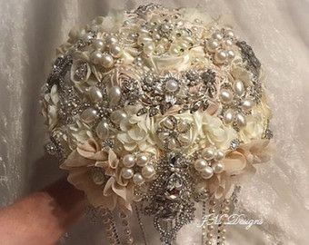 ELEGANTE Rose Gold Bouquet Kaution nur von Elegantweddingdecor