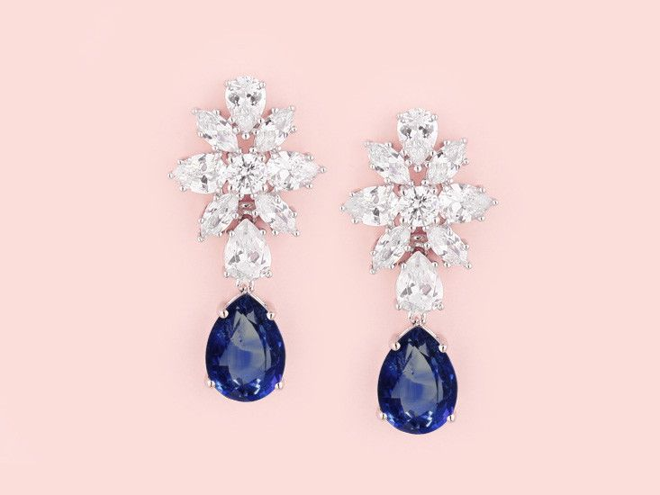Dutchess Earrings - Sapphire