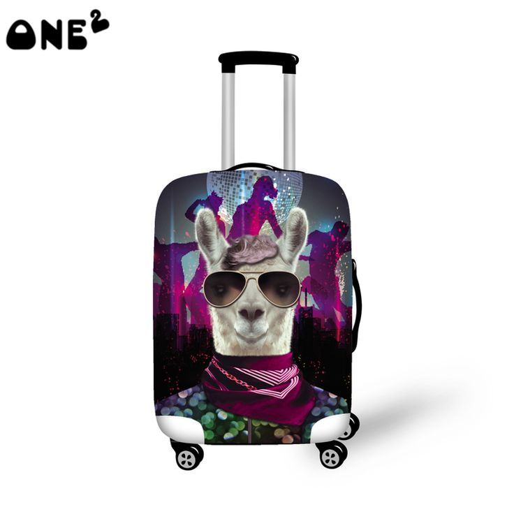 2016 ONE2 Design cute dog printing cover apply to 22,24,26 inch suitcase polyester production low cost luggage cover
