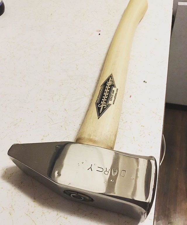 Restored stainless hammer originally milled by my pops