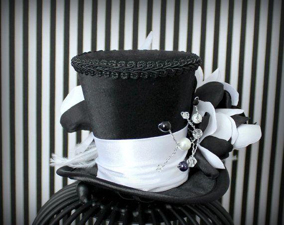 Mini Chapeau Noir Chapeau Haut de Forme par LittleMissHattitude