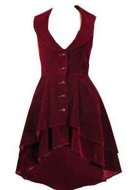 Luscious Velvet Tailored Flared Victorian Steampunk Gothic Dress, Frock-Coat Or Waistcoat Sizes 8-28: Amazon.co.uk: Clothing