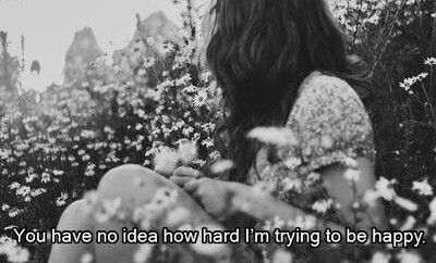 photography girl Black and White text happy sad hipster Typography boho indie Grunge flowers subtitles garden life quotes saying depressive im not okay boho chic you have no idea depressing quotes boho style