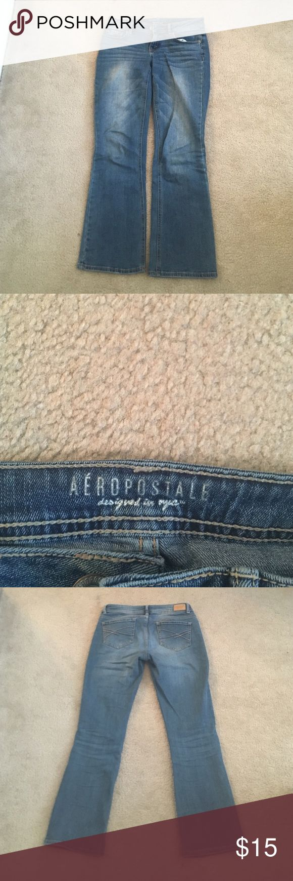 Aeropostale boot cut jeans size 2/short Good condition. Short or petite size. 2. Very fashionable. Comfy. Aeropostale Jeans Boot Cut
