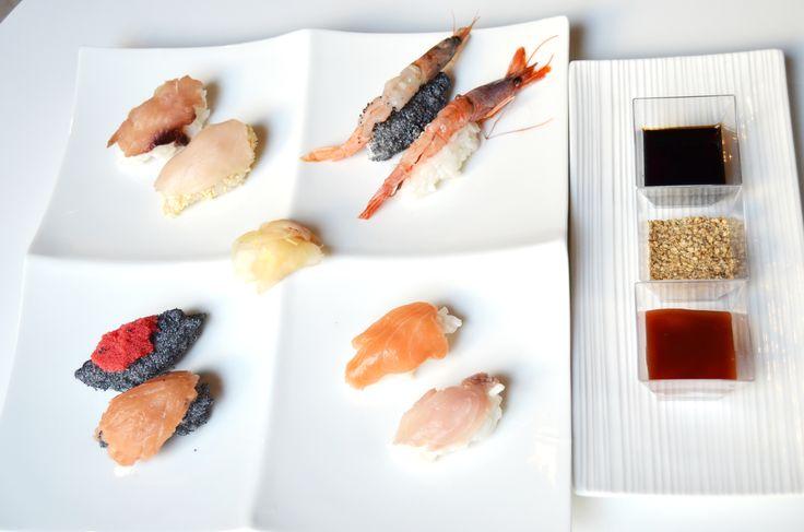 Rivisitazione del pesce mediterraneo in chiave sushi e sashimi #sushi e #sashimi #pescemediterraneo