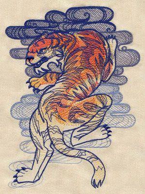 The Seven Seas - Tiger Tattoo design (UT5271) from UrbanThreads.com