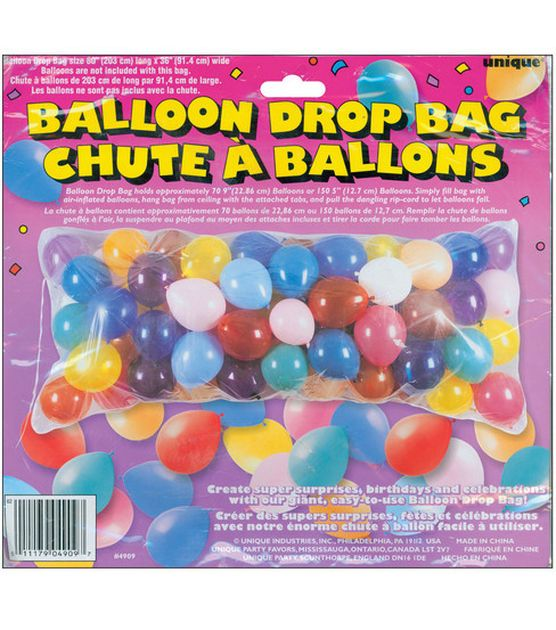 Unique 80''x36'' Balloon Drop Bad-1PK at Joann.com