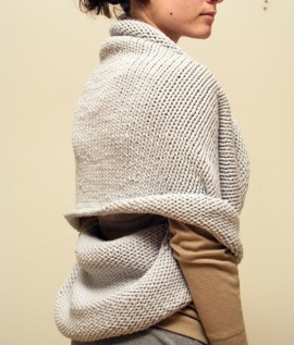 Elementum infinity shawl, multiple ways to wear.