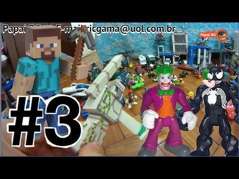 #3  Minecraft Golem de Ferro Steve  X Coringa Venom  Cadeia Gotham City ... #minecraft #steve #creeper #enderman  #game #jogo #play #ps4 #xbox #xboxone #toys #toys #おもちゃ  #dolls #doll #kids #kids  #puppet #lego #imaginext #marvel #DC #Comics #escola #school #educação #education #kid #kids #lol #usa