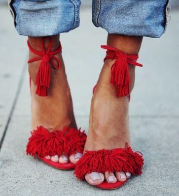 fringe Aquazzura shoes