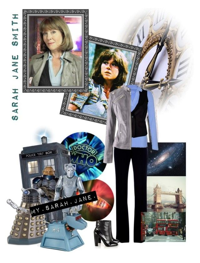 """""""Sarah Jane Smith"""" by riley5 ❤ liked on Polyvore featuring Sarah Jane, Alexander McQueen, Dash, Raxevsky, Karen Millen, ankle boots, bbc, k-9, sci-fi and sarah jane"""