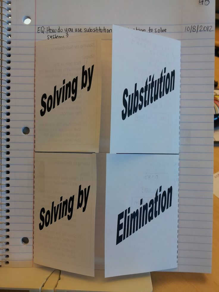 Solving systems if equations foldable  Teaching Statistics: Made4Math - New Foldable