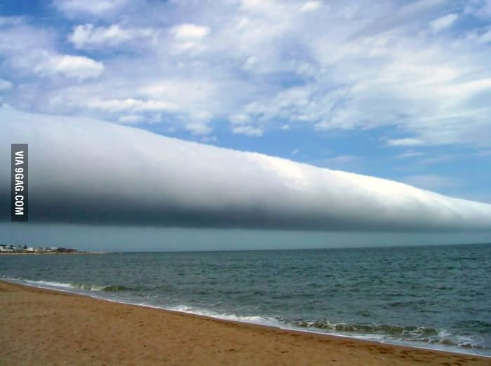A roll cloud is one of the rarest natural phenomena!