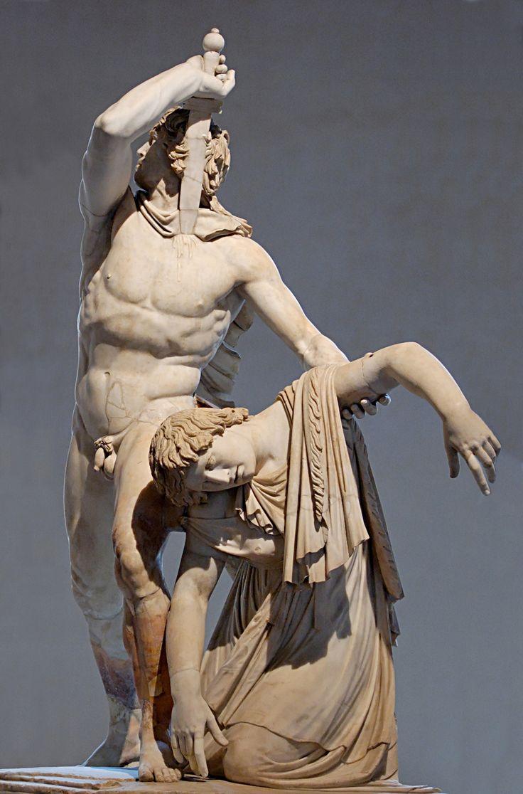Epigono, Galata suicida - ca 220 a.c., copia romana del I sec. a.c. da originale in bronzo, realizzata in marmo. Roma, Museo Nazionale Romano.