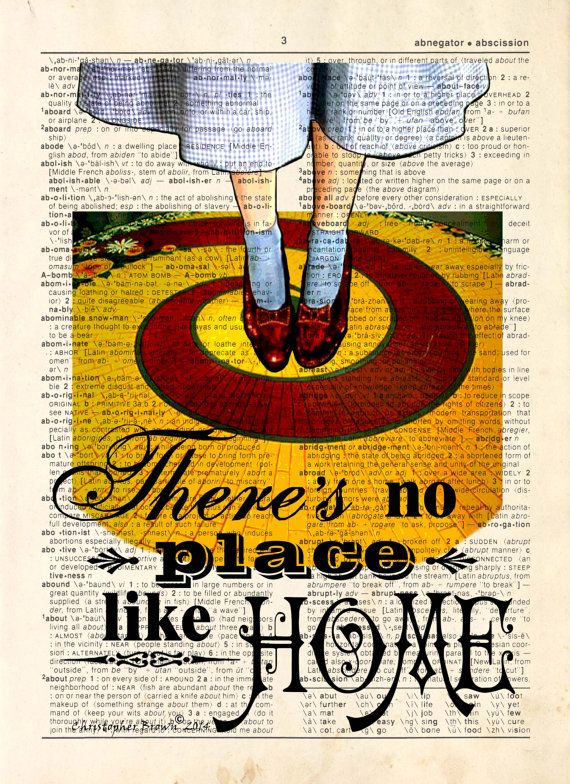 Dictionary Page Print: There's no Place Like by ArtOfThePage