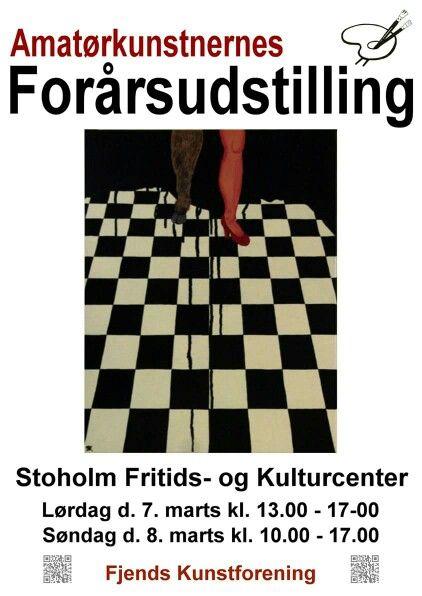 Næh om ikke at Fjends Kunstforening har brugt et af mine malerier til Årets plakat:-):-)