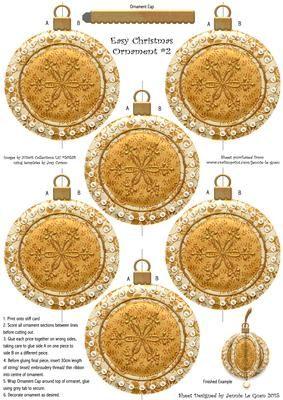 Easy Christmas Decoration 2 on Craftsuprint - Add To Basket!