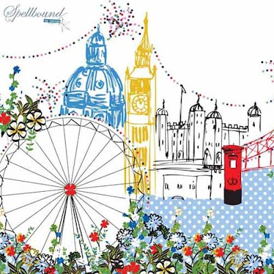 London illustration via print & pattern.