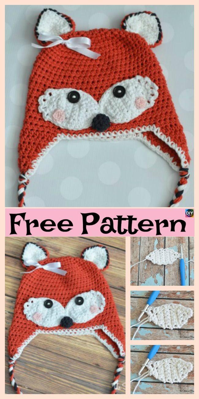 8 Knit & Crochet Fox Hats - Free Patterns   Crochet / Knitting ...