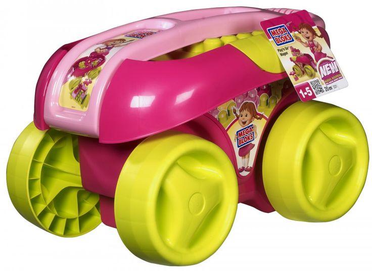 Megabloks Vozík s kostkami, růžová barva | MALL.CZ