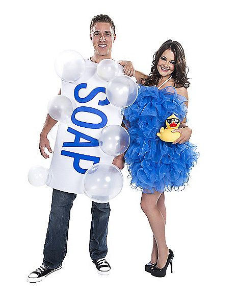 Soap and Loofah Couples Costume - Spirithalloween.com