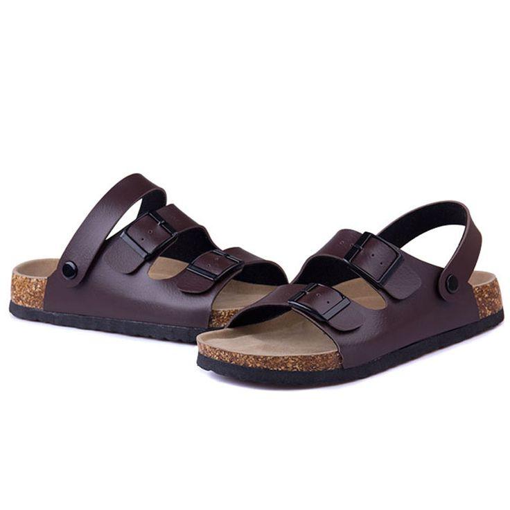 Aliexpress.com: Comprar CoolFar 2016 nueva venta al por mayor plana con sandalias chanclas y zapatillas de corcho sólido hombres de gran tamaño zapatos de la playa, sandalias de los hombres de zapatos caja de zapatos fiable proveedores en CoolFar Factory store