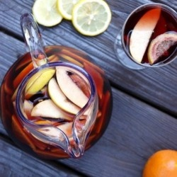 Image result for orange lemon apple sangria