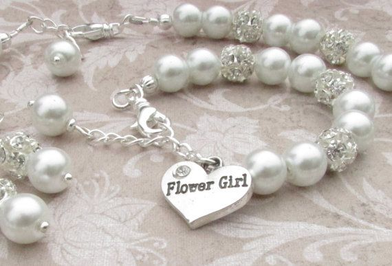 Hey, I found this really awesome Etsy listing at https://www.etsy.com/listing/200762484/flower-girl-jewelry-set-bridal-pearls