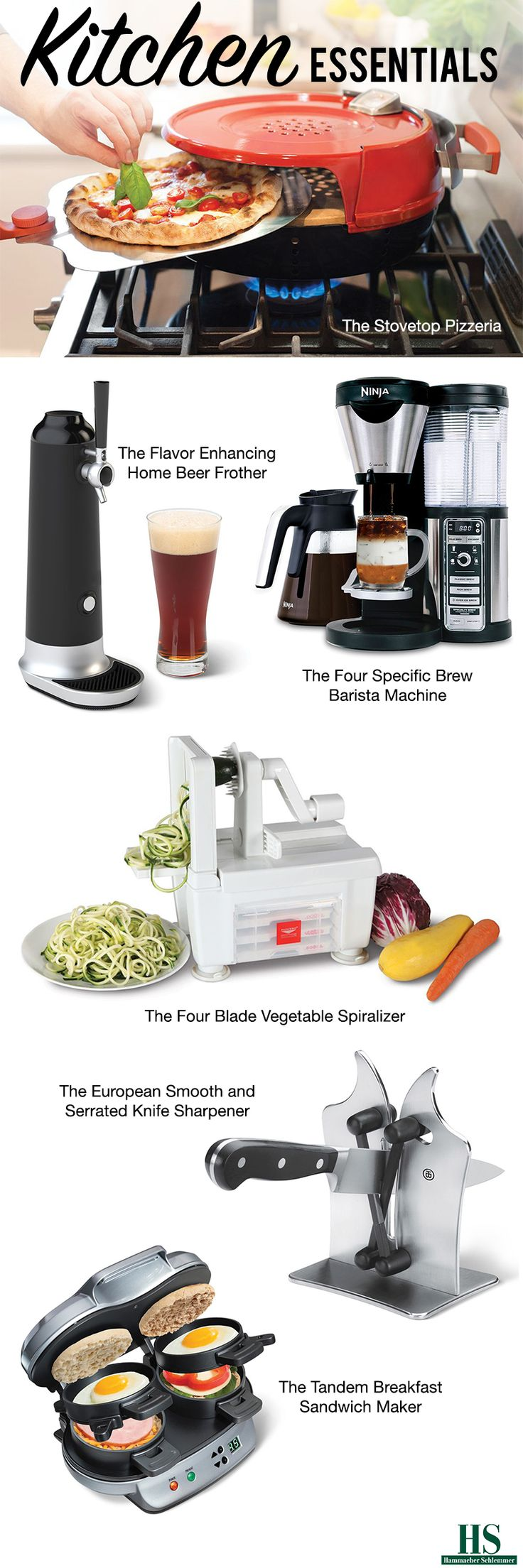 The Best, The Only, and The Unexpected Kitchen Essentials from Hammacher Schlemmer.