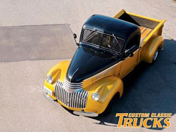 Check out Jim Arrabito's 1941 1/2-Ton Chevy Truck with a Grant GT steering wheel and a Cherry Bomb Muffler, and a Vette 327 inch motor. Only at www.customclassictrucks.com, the official site for Custom Classic Trucks Magazine.