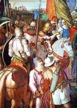 The Battle of Tours (often called the Battle of Poitiers, but not to be confused with the Battle of Poitiers, 1356) was fought on October 10, 732 between forces under the Frankish leader Charles Martel and a massive invading Islamic army led by Emir Abdul Rahman Al Ghafiqi Abd al Rahman, near the city of Tours, France.