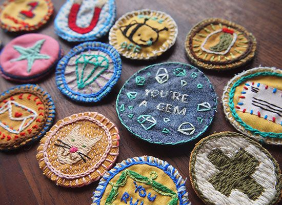Rae Birch-Carter: Embroidered DIY Merit Badges on Etsy