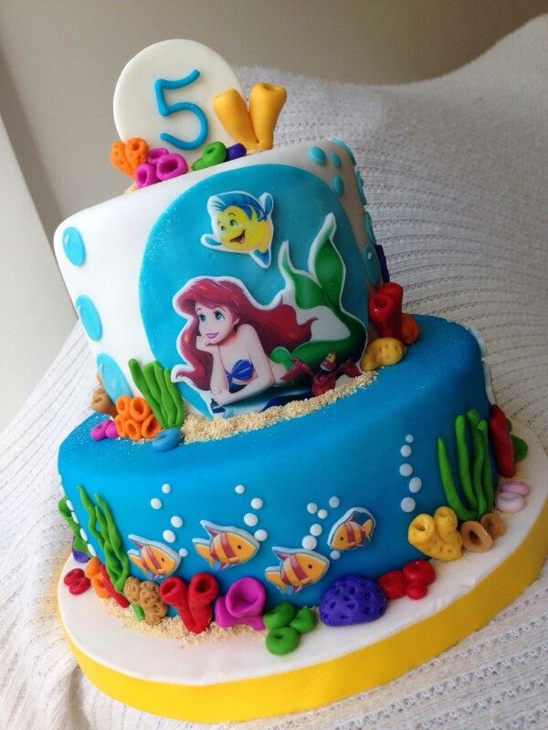 Little mermaid sirenita tortas infantiles pinterest for Tortas decoradas infantiles