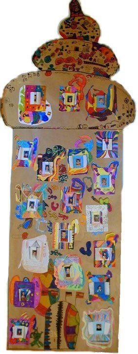Geburtstagsturm und viele tolle Ideen für Malstunden, kreatives Gestalten, Hundertwasser mit Kids,