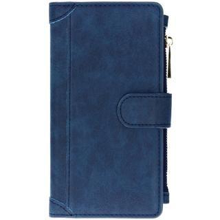 Luxe Portemonnee voor de Samsung Galaxy A10 – Donkerblauw