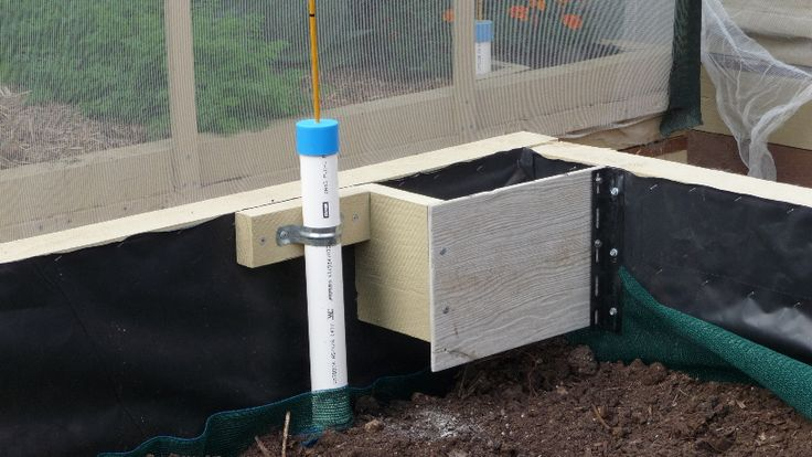 12. Built-in Worm Farm.....Next to the water fill pipe is the worm fam.  It is open at the bottom so worms can access the rest of the bed.